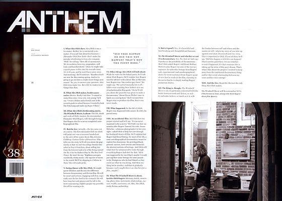 ANTHEM MAGAZINE SPRING 2009